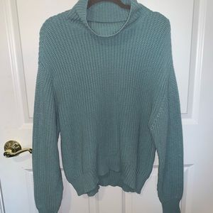 {French Connection} Blue Snit Sweater